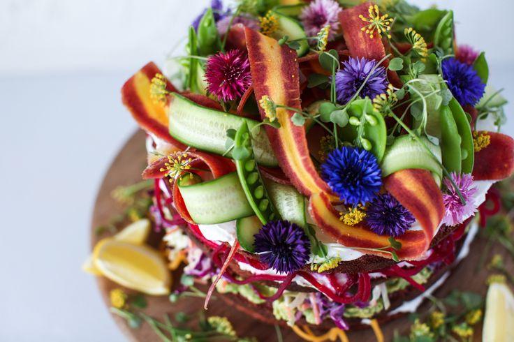 salad cake