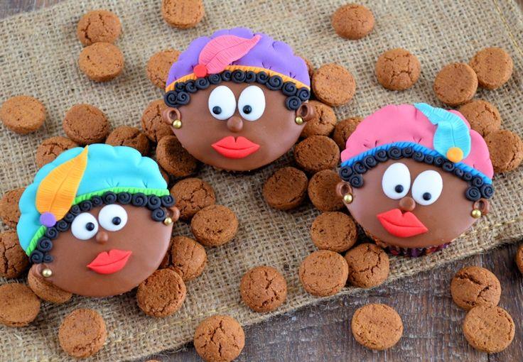 Zwartepieten cupcakes