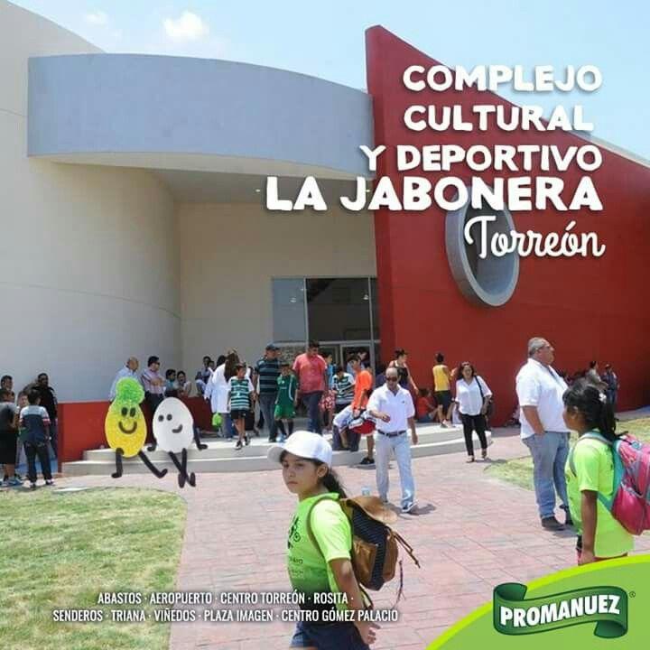 #Promanuez te invita a visitar el Complejo Cultural y Deportivo La Jabonera ubicado en la Ciudad de Torreón; este complejo es un espacio que cuenta con salones de danza y artes plásticas, salones de música, un estudio de fotografía, cine y teatro, además de diversos espacios para el deporte.   http://www.promanuez.com.mx/productos #AliméntateSanamente #RicoySaludable #Natural