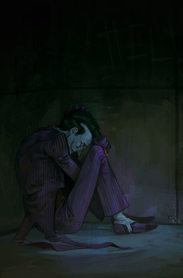 Joker Crying Seni Tengkorak Dan Seni