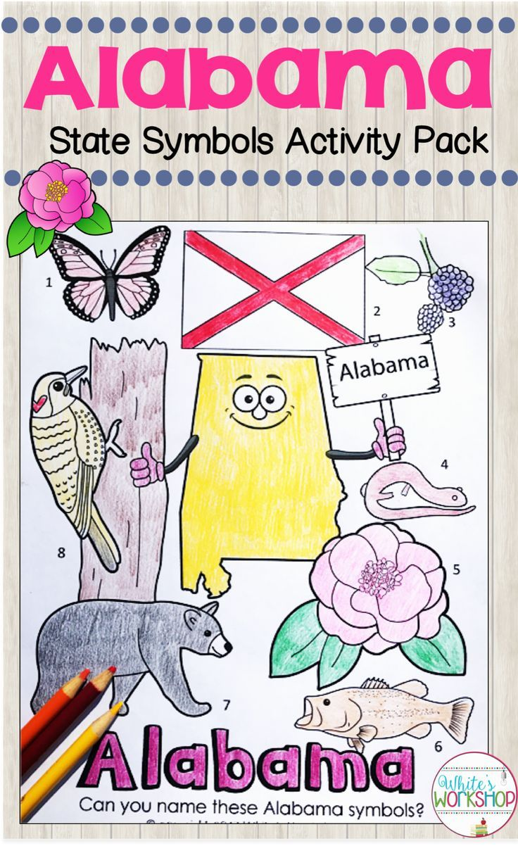 With this Alabama State Symbols Activities pack [ 1202 x 736 Pixel ]