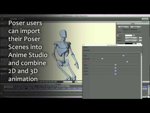 Anime Studio 9 Pro Feature Overview - Poser 3D Import