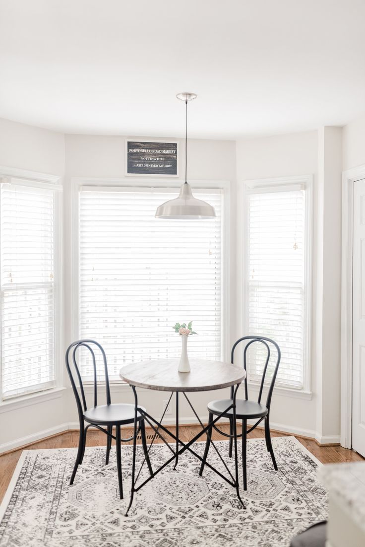 Small Breakfast Nook French Bistro with Benjamin Moore