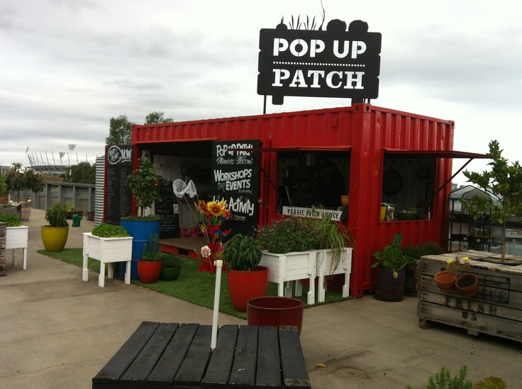 Pop up vegie patch, put up in the heart of Melbourne city.