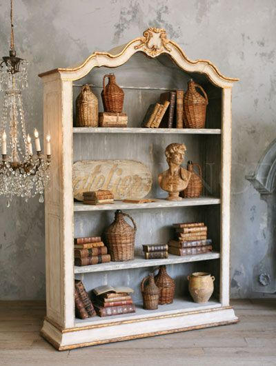 French Country Antique Reproductions - Chests - Reproduction Rousseau Bookcase - Cottage Haven Interiors
