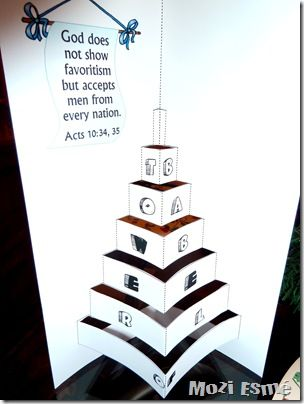 Origami Tower of Babel free printable