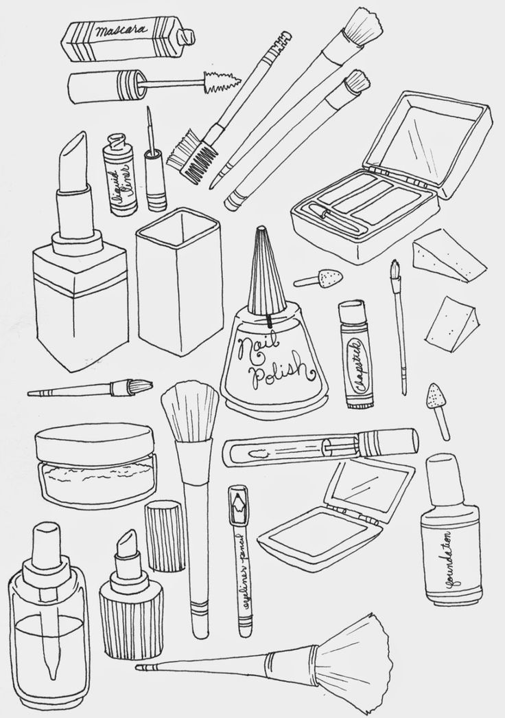 makeup-coloring-page