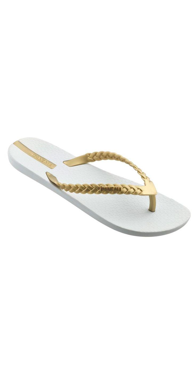 Ipanema 2013 Neo Heidi White and Gold #Sandal | South Beach Swimsuits