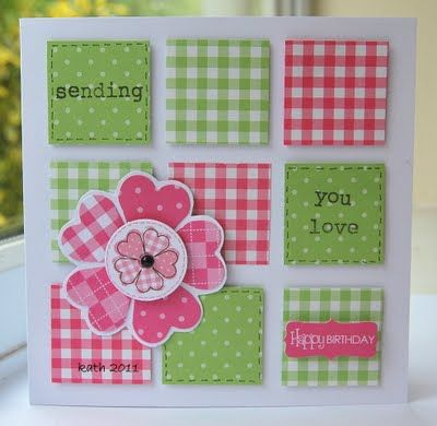 Inspiration: Sweet scraps #card