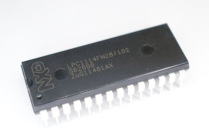 LPC1114FN28 : A DIP28 package ARM MCU (Cortex-M0 core)