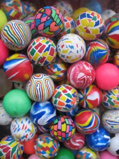 super balls= super colorful little troublemaker you will spend chasing for the next few days before you lose it.