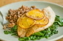 images of baked tilapia recipes | Baked Tilapia With Lemon-Thyme Flaky Salt