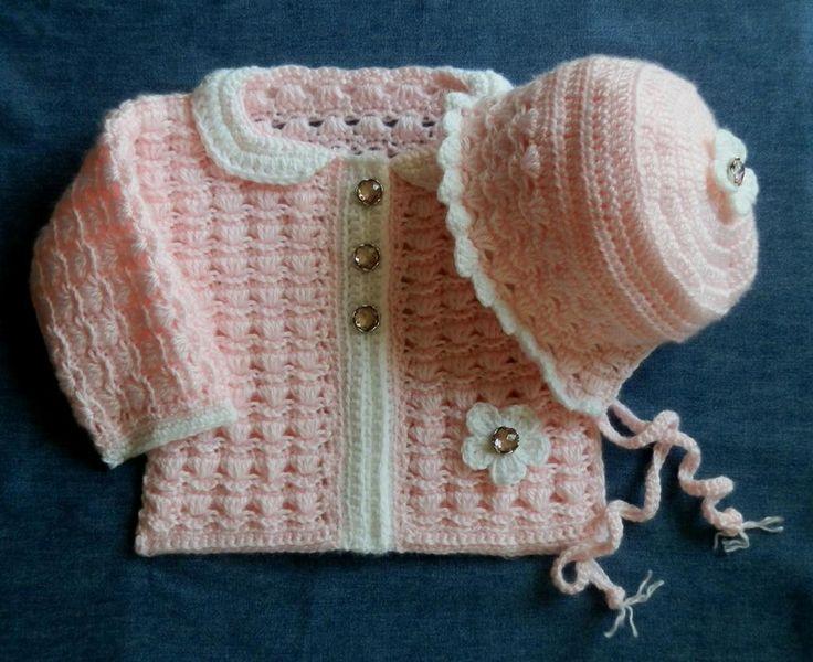 Baby Girl Crochet Sweater Set Patterns