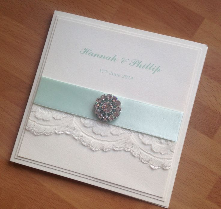 Vintage lace and crystal wedding invitation Best