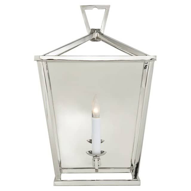 """The E. F. Chapman Darlana Wall Lantern by Visual Comfort adds a sumptuousness to an existing setting with its unmistakable craftsmanship. This unique product is designed by E. F. Chapman for Visual Comfort. The E. F. Chapman Darlana Wall Lantern comes with an array of complimentary finishes of your choice. The E. F. Chapman Darlana Wall Lantern adds complimentary beauty to your existing or transitional spaces. 17""""H 1 x 60 Watt Candelabra Incandescent bulb (not included)"""