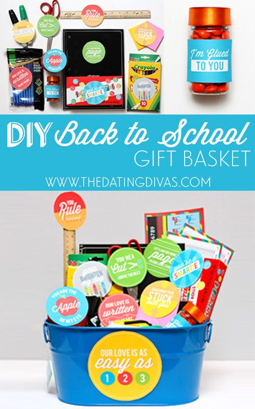 7 best back to school gift ideas for teachers images on pinterest diy back to school gift basket negle Images