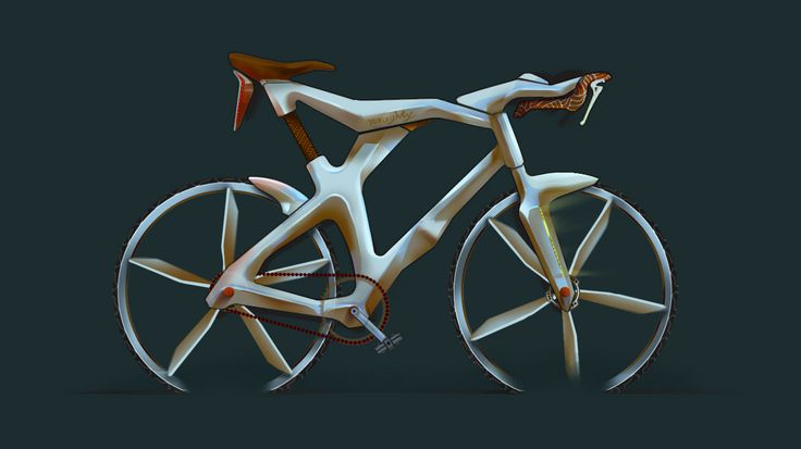 bike bicycle design sketch photoshop draw painting