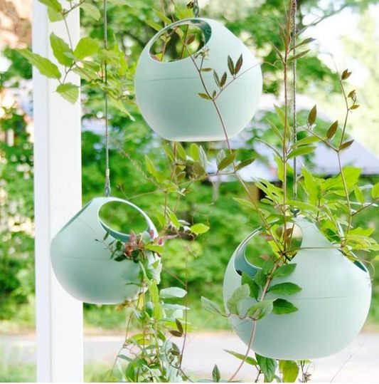 hanging mint desifgn flower pots b.for soft air by elho at makeithome.pl