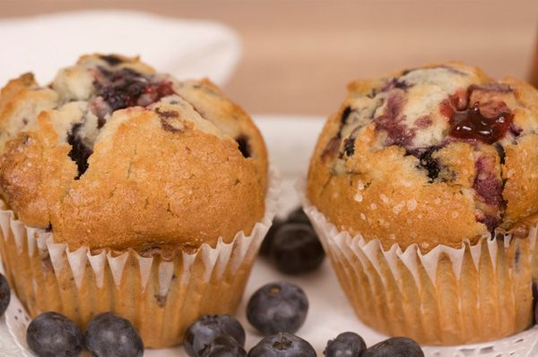 Blueberry Muffins with Almond Flour and Almond Flour substitution tips.