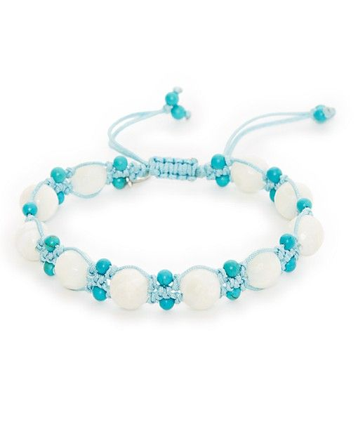 """Throw a new boho bauble into your daily stack of favorites with Chan Luu's pristine beaded bracelet. 