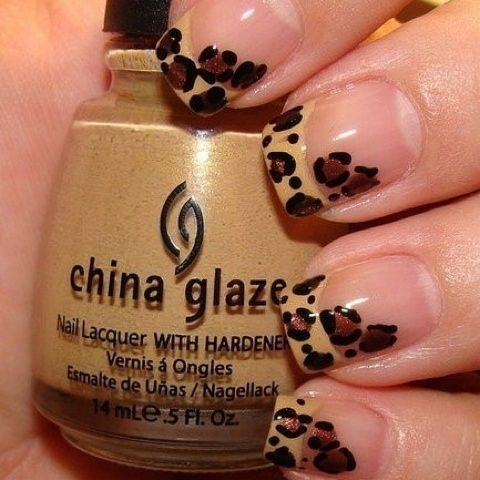 Leopard french tip! freaking haute!Cheetahs Nails, Nails Art, French Manicures, China Glaze, French Tips, Animal Prints, Leopards Prints, Leopards Nails, Prints Nails