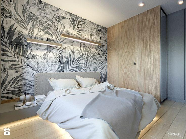 Wrocław- Ogrody Hallera - Mała sypialnia małżeńska, styl nowoczesny - zdjęcie od 28 FORM