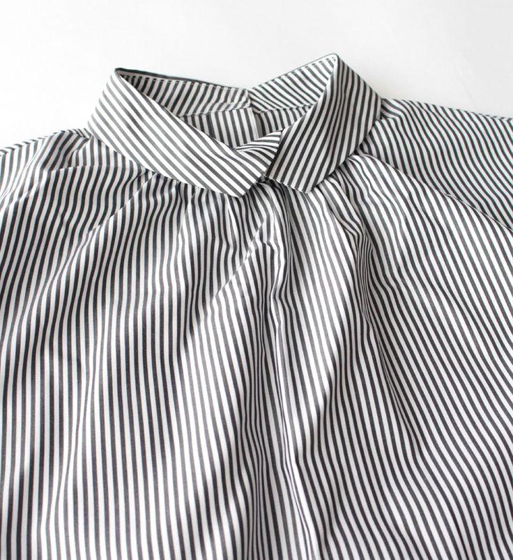 VC-1131 Back button blouse - Veritecoeur,SHIRTS - Veritecoeur(ヴェリテクール)