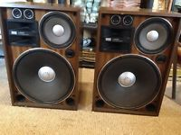 Vintage SANSUI SP-X9000 Woodgrain Floor Speakers Pair TWO SPEAKERS