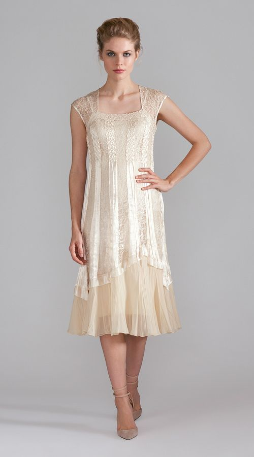 Chiffon Cap Sleeve Dress