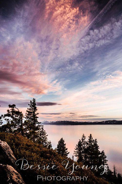Lake Tahoe Sunset Incline Village Photograph Landscape Photography Landscape Pictures Lake Photography