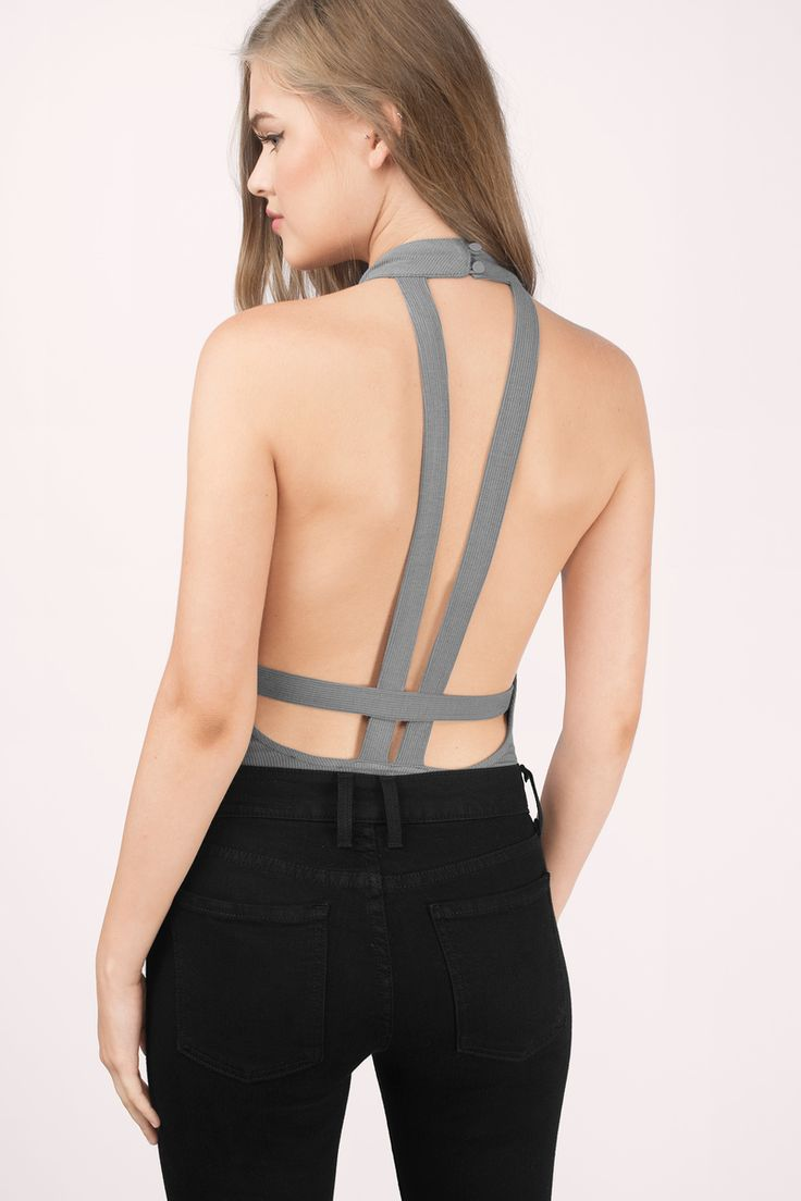 Love In My Eyes Halter Bodysuit at Tobi.com