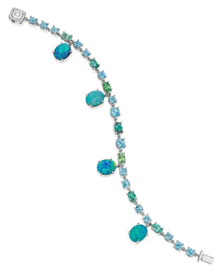 Mimi So ZoZo collection opal and gemstone bracelet. Via Diamonds in the Library.
