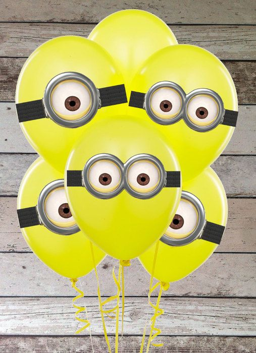 INSTANT DOWNLOAD Despicable Me Minion's Googles Printable Birthday Party for Balloons, Stickers, Decoration