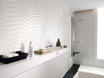 Wave Tile Design Ideas, Pictures, Remodel and Decor