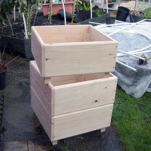 Home made potato planter - same idea as tires, but will look nicer.