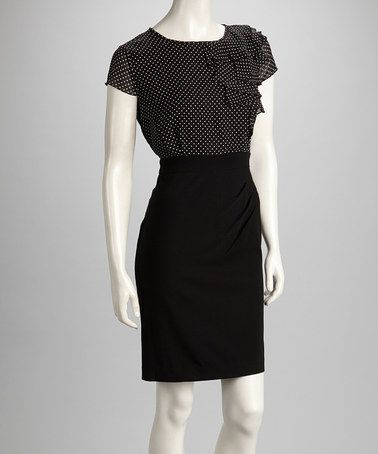 Black Amp Ivory Polka Dot Ruffle Dress By Shelby Amp Palmer My Make Believe Closet Pinterest
