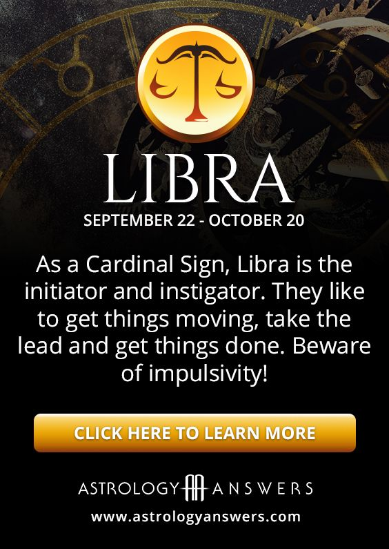 As a Cardinal sign, Libras are starters and instigators
