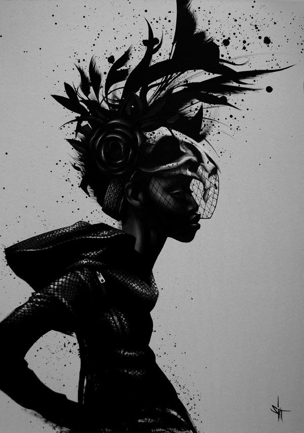 SIT_Noir....I want this! beautiful!: Artists, Inspiration, Illustrations, Digital Art, Artist Sit, Black Art, Design, Black