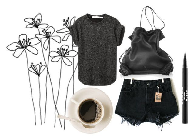 """flower power"" by sophie-lawrence ❤ liked on Polyvore featuring Levi's, Loewe and Stila"