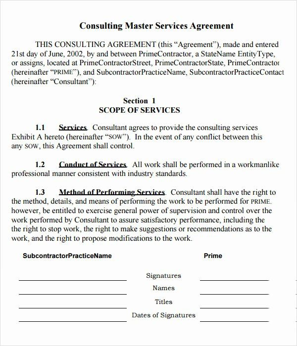 40 Master Service Agreement Template In 2020 With Images