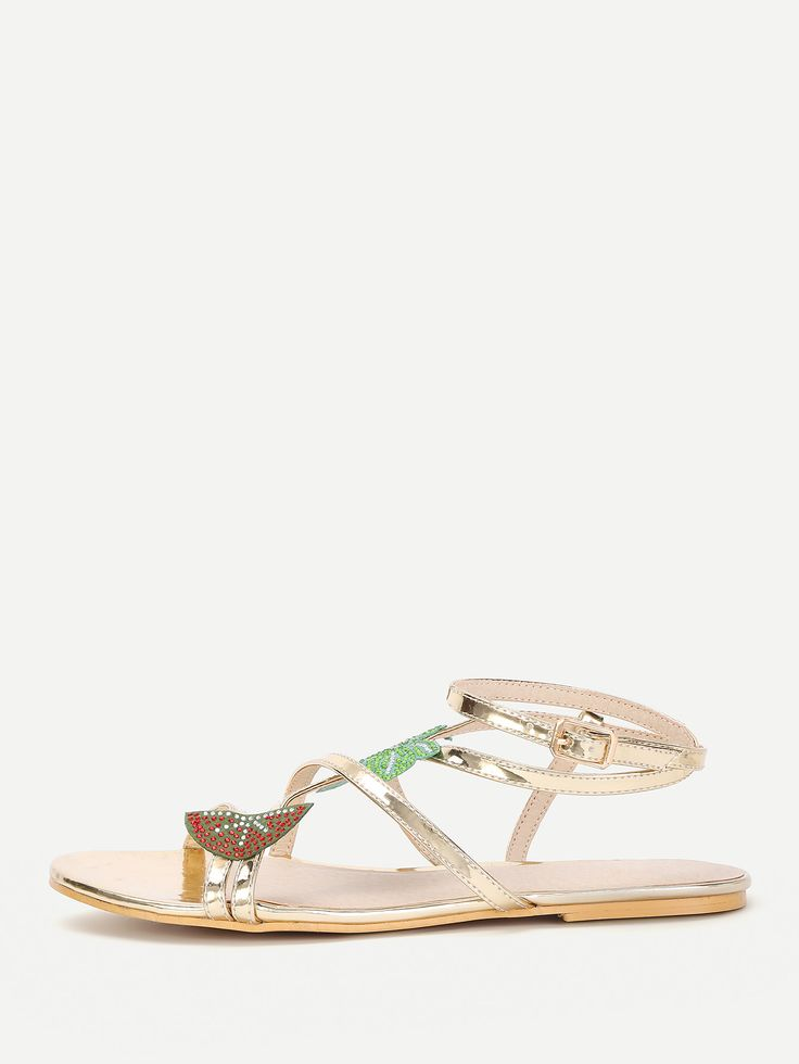 Shop Leaf Embellished Strappy Flat Sandals online. SheIn offers Leaf Embellished Strappy Flat Sandals & more to fit your fashionable needs.