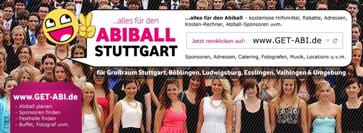 Abiball STUTTGART - Du planst einen Abiball in Stuttgart, Esslingen, Böblingen, Vaihingen, Leinfelden, Pforzheim oder Umgebung? Dann findest Du auf dieser Seite sehr viele Infos rund um den Abiball, z.B. Adresse und Tipps zu Festhallen, Abifotos, Catering, Getränkeservice uvm. im Großraum Stuttgart:  https://www.facebook.com/pages/Abiball-Stuttgart/1539828239567322