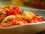 Spaghetti with Roasted Eggplant and Cherry Tomatoes