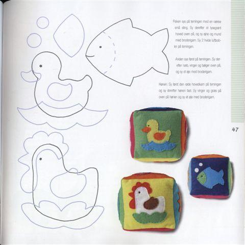 Eu Amo Artesanato: Cubos com moldes