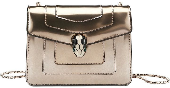 Bvlgari Serpenti Forever Patent-Leather Shoulder Bag