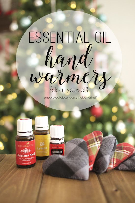 Handmade Holiday: DIY Hand Warmers with Essential Oils from One Project Closer                                                                                                                                                                                 More
