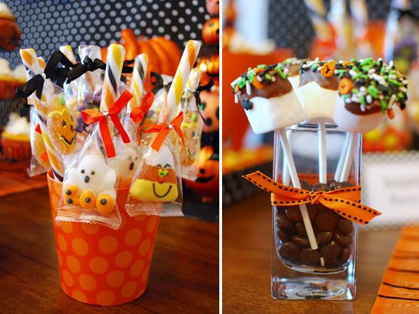 Halloween Dessert Table + Treat Cones DIY // Hostess with the Mostess®