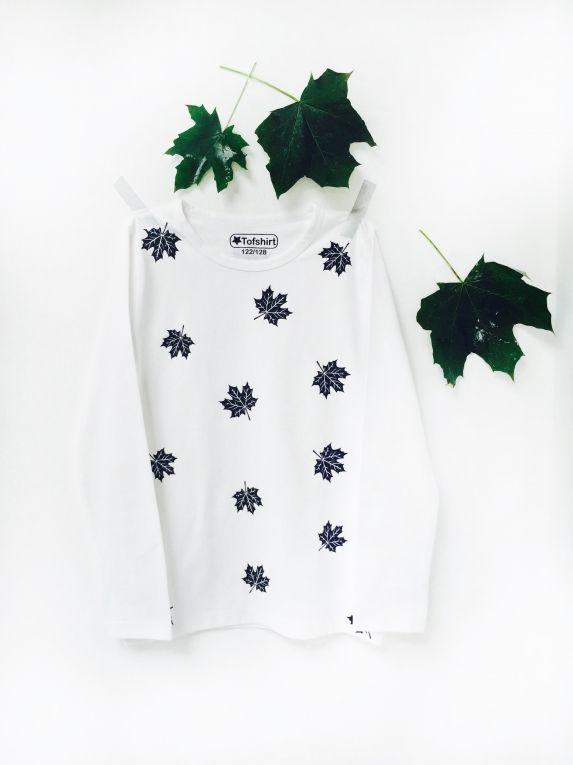 Baby shirt met herfstblaadjes  Kinder shirt #tofshirt