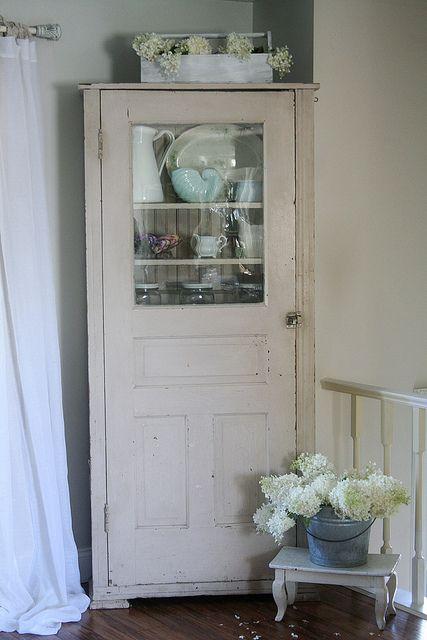 Cupboard made from old door