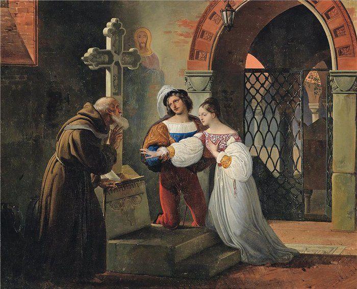 Romeo y Julieta  es una tragedia de William Shakespeare. Cuenta la historia de dos jóvenes enamorados que, a pesar de la oposición de sus familias, rivales entre sí, deciden casarse de forma clandestina (Francesco Hayez, 1830, el casamiento de Romero y Julieta)